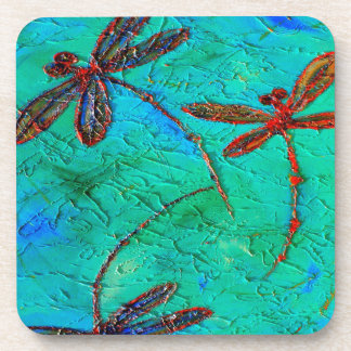 Dragonfly Dance Beverage Coaster