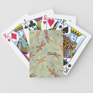 Dragonfly Dance Gold Bicycle Playing Cards