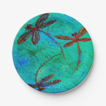 Dragonfly Dance Paper Plate