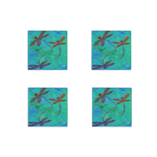 Dragonfly Dance Stone Magnet