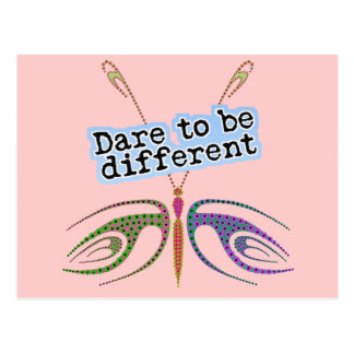 Dragonfly - Dare To Be Different Postcard