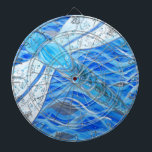 "Dragonfly Dartboard<br><div class=""desc"">Inspired by the beautiful dragonflies flying over our pond.</div>"