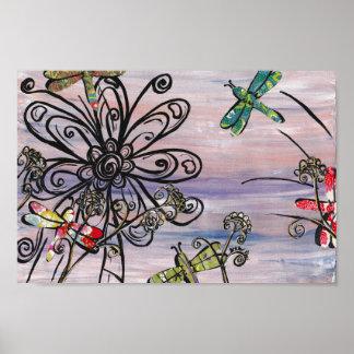 Dragonfly Dawn Print