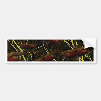 Dragonfly decorative pattern bumper stickers