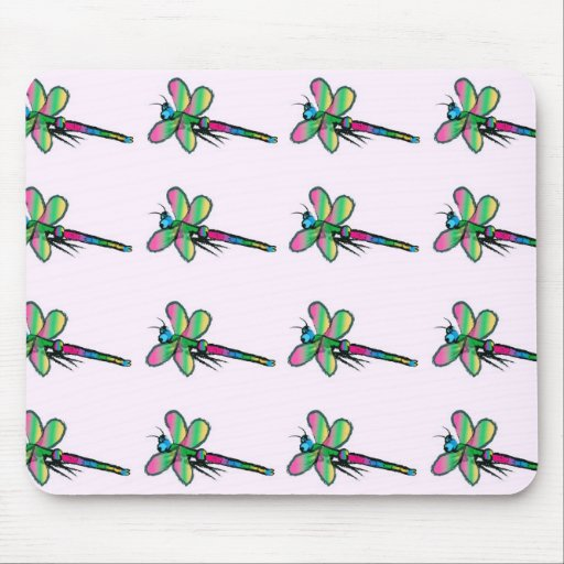 Dragonfly Design Mouse Pad