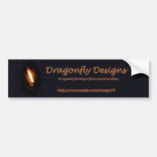 Dragonfly Designs Car Bumper Sticker