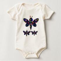 DRAGONFLY dragon fly insect dot navinJOSHI NVN89 Baby Bodysuit