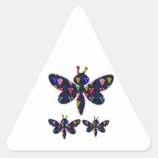 DRAGONFLY dragon fly insect dot navinJOSHI NVN89 Triangle Sticker