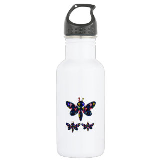 DRAGONFLY dragon fly insect dot navinJOSHI NVN89 Water Bottle