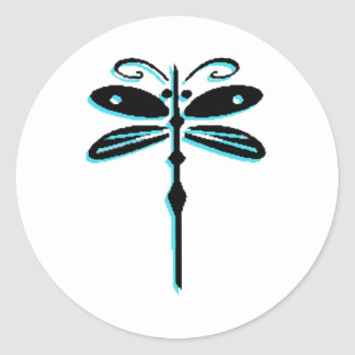 Dragonfly Dragonflies Classic Round Sticker