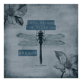 Dragonfly Dream Illusion Poster