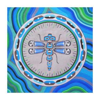 Dragonfly dream Mandala Canvas Print