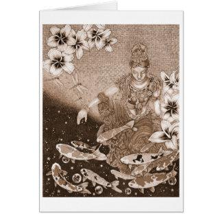Dragonfly Dream VII sepia Card