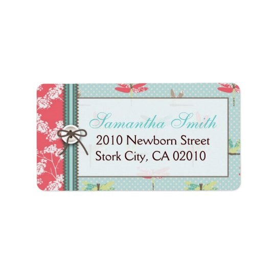 Dragonfly Dreams Boy Address Label
