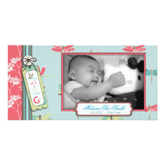 Dragonfly Dreams Girl Photo Card