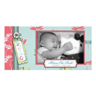Dragonfly Dreams Girl Photo Card