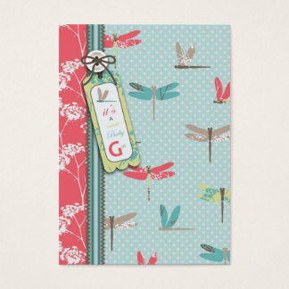 Dragonfly Dreams Girl Reminder Notecard Business Card