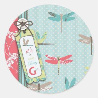 Dragonfly Dreams Girl Sticker