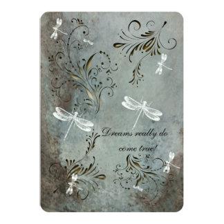 """Dragonfly Dreams Wedding Invitation 5"""" X 7"""" Invitation Card"""