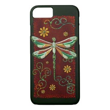 Dragonfly Elegant Jeweled 2 Folk Art iPhone 8/7 Case