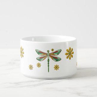 Dragonfly Elegant Jeweled 2 Folk Art Chili Bowl