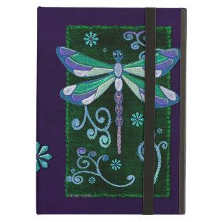 Dragonfly Elegant Jeweled Folk Art NAMED iPad Folio Cases