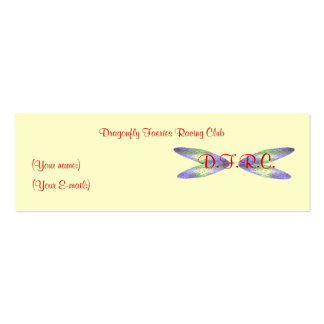 """Dragonfly Faeries Racing Club"" Profile Card Business Card Template"