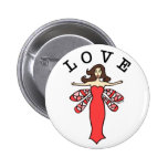 Dragonfly Fairy Love Button