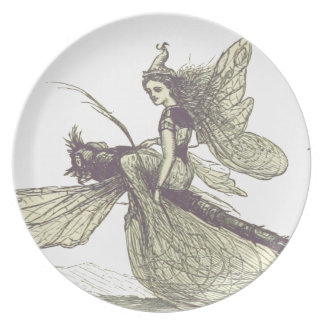 Dragonfly Fairy Plate