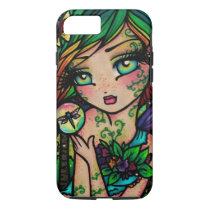 """Dragonfly Fairy """"Willow"""" Fae Fantasy Art iPhone 8/7 Case"""