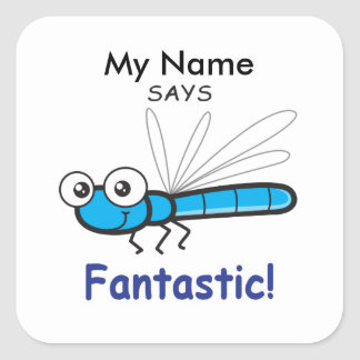 Dragonfly - Fantastic! Square Sticker