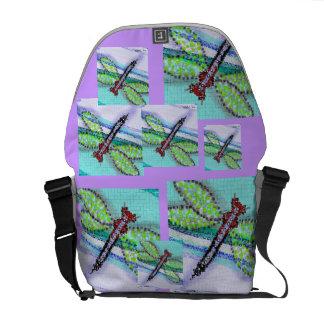 Dragonfly Fantasy Messenger Bag
