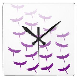 Dragonfly Flight Pattern Purple Ombre