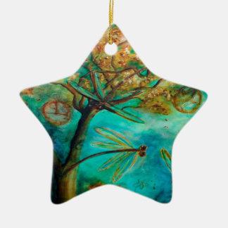 Dragonfly Flirtation Christmas Tree Ornament