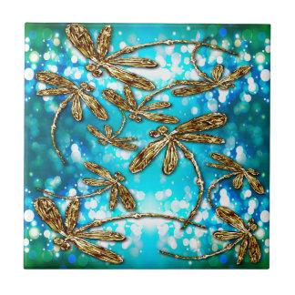 Dragonfly Flit Bubbles Tile