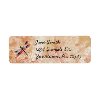 Dragonfly Flourish Address Label