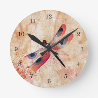 Dragonfly Flourish Clock