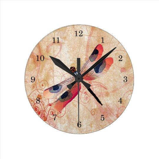 Dragonfly Flourish Clock