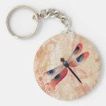 Dragonfly Flourish Keychain