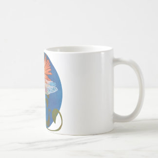Dragonfly Flower Coffee Mug