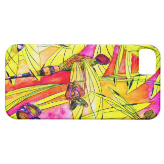 Dragonfly Flurry insect attack watercolor painting iPhone 5 Cases
