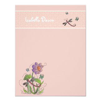 Dragonfly Friends - Personalized Stationery Card
