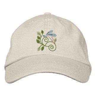 Dragonfly Garden Embroidered Baseball Cap