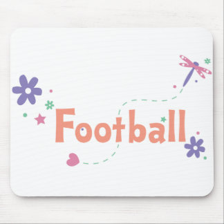 Dragonfly Garden Football Mouse Pad