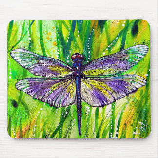 Dragonfly Garden Mouse Pad