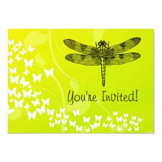 Dragonfly Garden Party Custom Invitation