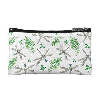 Dragonfly Garden Pattern Makeup Bag