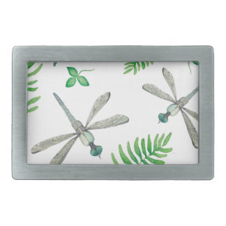 Dragonfly Garden Rectangular Belt Buckle