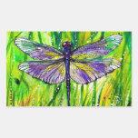 Dragonfly Garden Rectangular Sticker