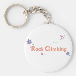 DragonFly Garden Rock Climbing Basic Round Button Keychain